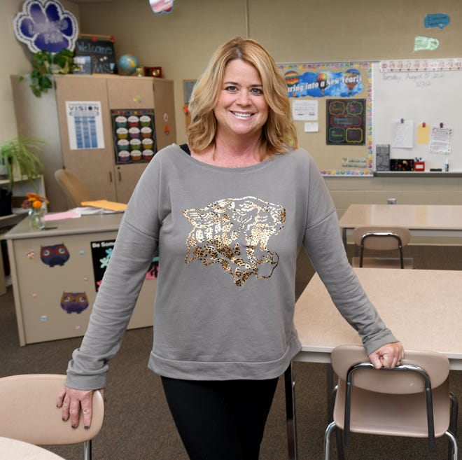 Deb Minster, a teacher's aide at Louisville Middle School, is The Alliance Review's Difference Maker for September. Photo taken Tuesday, Aug. 31, 2021.