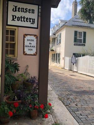 Aviles Street in downtown St. Augustine.