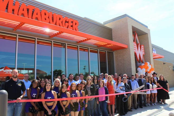 The Stephenville Chamber of Commerce celebrated the new Whataburger location with a ribbon-cutting ceremony on Aug. 20. Since the beginning in 1950, Whataburger has made it a priority to greet customers with a smile 24 hours a day, seven days a week while offering fresh and delicious meal options and a one-of-a-kind Texas experience. Whataburger has been in Stephenville for the past 34 years and is excited for the opportunities the new location will bring. For more information, visit bit.ly/RC-Whataburger