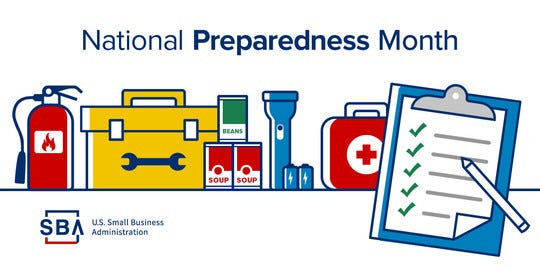 Texans are encouraged to prepare for disasters and other unforeseen events during National Preparedness Month.