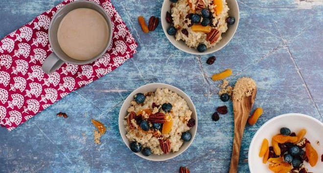 Instant Pot Oatmeal with Dried Fruit