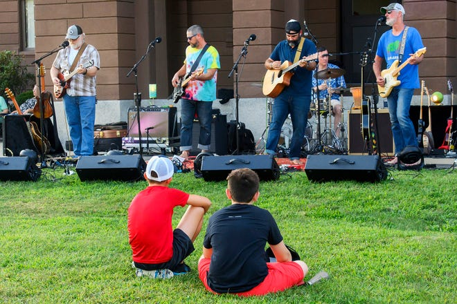 Middleboro band Mountain Weekend preformed last Thursday at Town Hall on the last night of the Middleboro Friends Summer Concert Series.