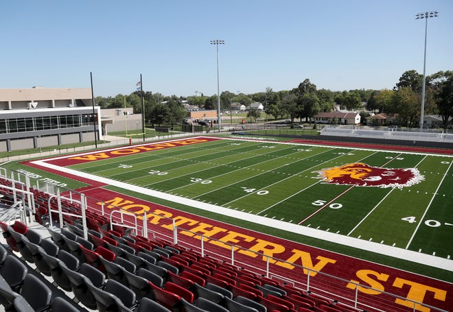 A view from the general section at the new Dacotah Bank Stadium. American News photo by Jenna Ortiz, taken 08/31/2021.