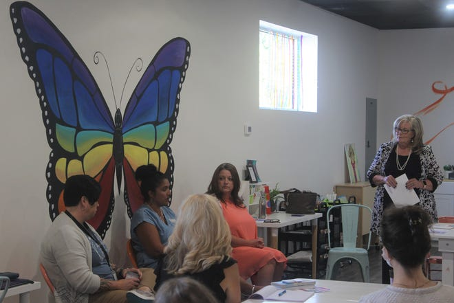 Morgan Nick Foundation, Crisis Intervention Center, and Monarch 61 we met on Aug. 31 to discuss their mission to help people in the community who have suffered from Domestic Abuse
