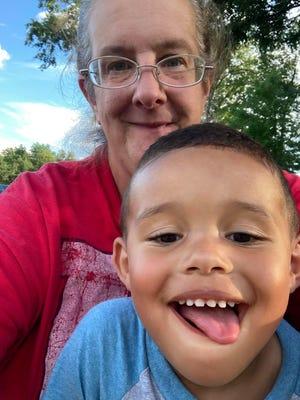 Karen Uyar and her 3-year-old grandson Sebastian