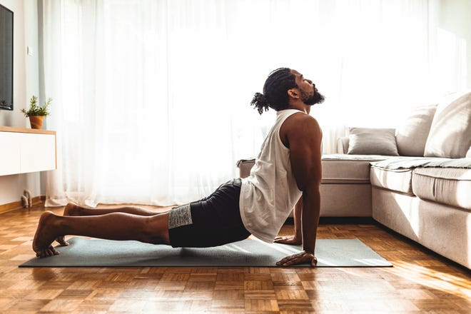 You do not need to be flexible to practice yoga. You start doing yoga to gain flexibility.