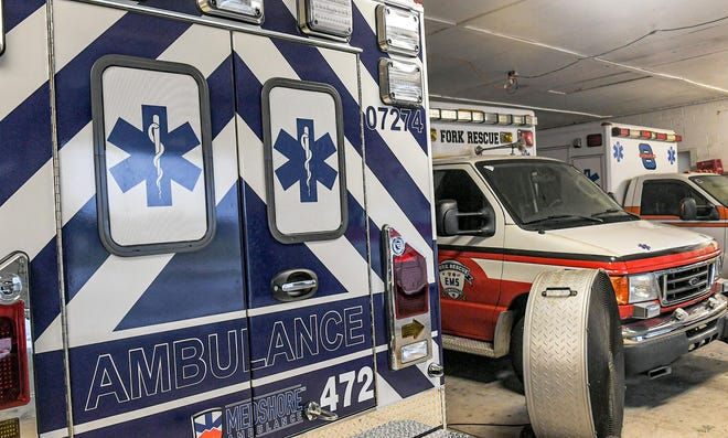 The first new Medshore ambulance for the new era in ambulance service starting September 1, was delivered to the Fork Rescue Squad building in Townville S.C. Tuesday, August 31, 2021.