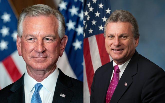 U.S. Senator Tommy Tuberville, left, and U.S. Representative Buddy Carter