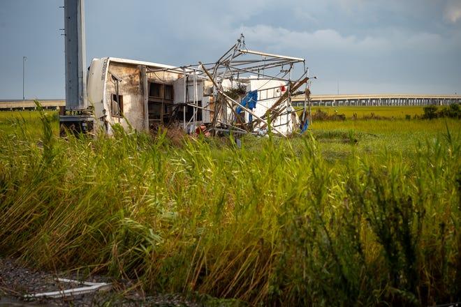 Hurricane Ida damage seen in photos from Grand Isle, Louisiana