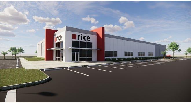 Rice Insulation & Glass' 35,000-square-foot facility at Alico Trade Center.