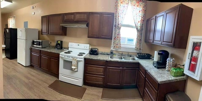 A fully-equipped kitchen has all the necessities of the home at the Healing House, Luna County's shelter for survivors of domestic violence.