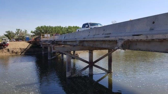 County officials have asked area residents to avoid using the bridge along County Road 5500 while its being rebuilt. The bridge will be closed to traffic much of Sept. 1 and Sept. 2 as major renovation work continues.