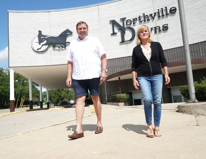 Northville residents Bryan and Nancy Riegner voiced their concerns about the revised development plan for the Northville Downs property presented during the Northville Planning Commission meeting.