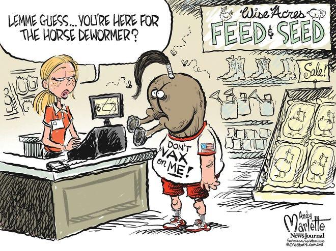 Marlette cartoon: Horse dewormer ain't curing COVID