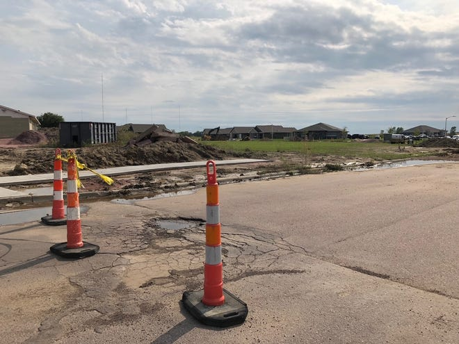 The future site of Vineyard Heights Apartments, an affordable housing development in southern Sioux Falls.