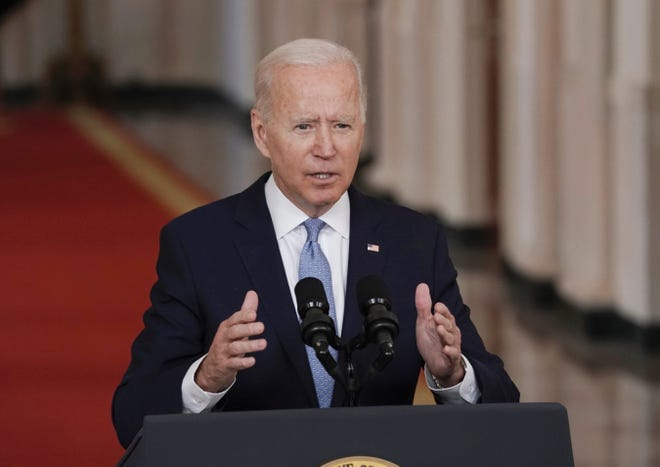 President Biden addresses the nation on the end of the American mission to Afghanistan on August 31, 2021.