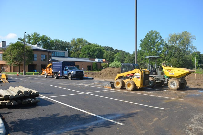 Crews have finished removing pavement at many areas around McCord Park, 33 E. Wilson Bridge Road in Worthington.