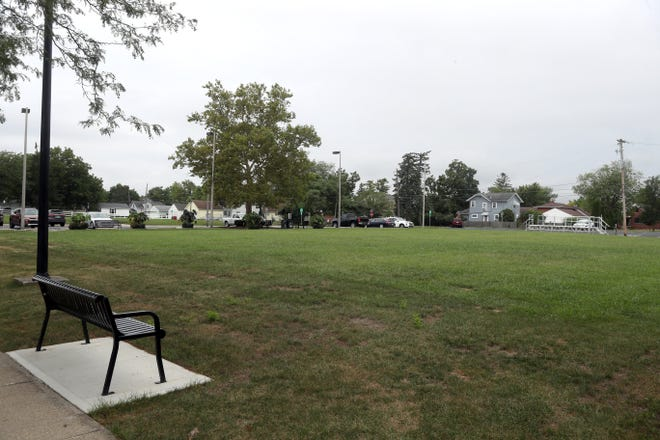 """Development for the Town Center park on the site of the former Grove City Library likely won't be part of the initial capital-improvement budget for 2022, but separate funding requests will be brought to City Council, Mayor Richard """"Ike"""" Stage said."""
