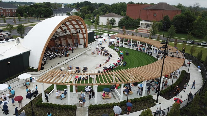 The Charleen & Charles Hinson Amphitheater opened on Aug. 31. Several performances are scheduled there this month.