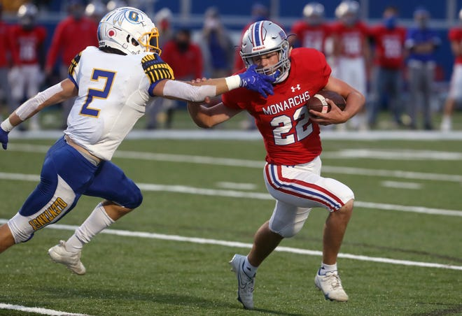 Griffin Johnson is one of the top playmakers for Marysville, which visits Pickerington North on Sept. 3.