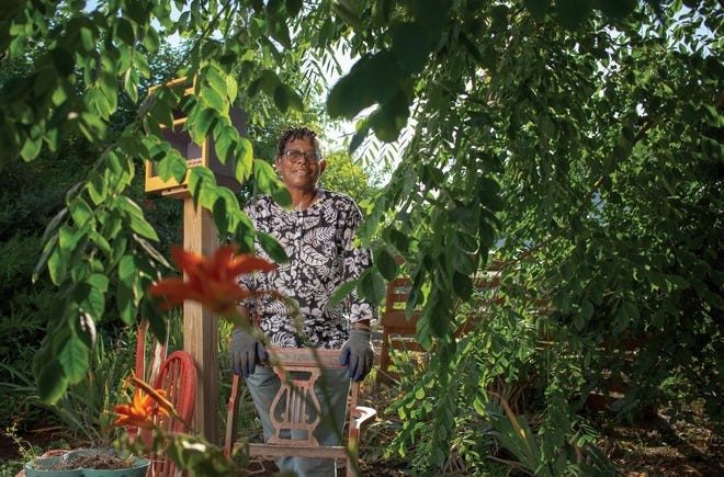 Julialynne Walker at the Bethany Bronzeville Community Garden