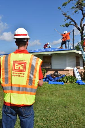 Sign-up for a roof tarp at blueroof.us. Operation Blue Roof is run by the Army Corps of Engineers.
