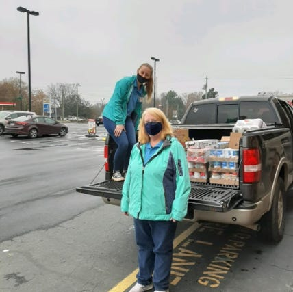 Whether rain or shine, the Ramseur Food Pantry works with Just Save groceries to provide meals.