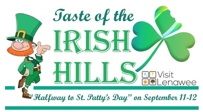 The 11th annual Taste of the Irish Hills, presented by Visit Lenawee, will take place over two days, Saturday and Sunday, Sept. 11-12, at participating restaurants and food establishments throughout the Irish Hills.