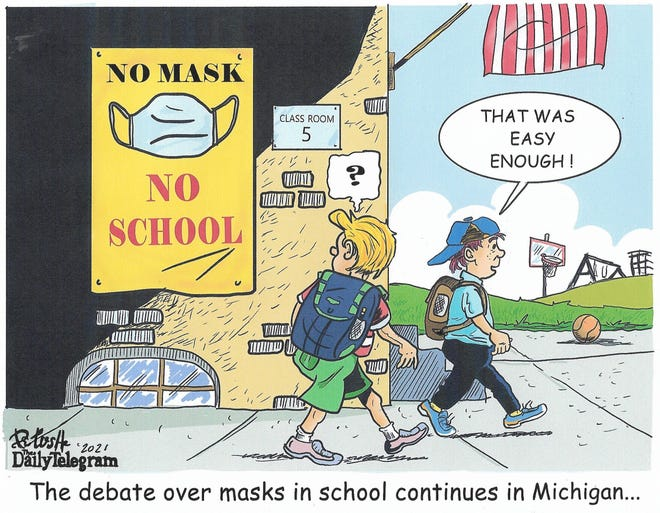 The debate over masks in school continues in Michigan…