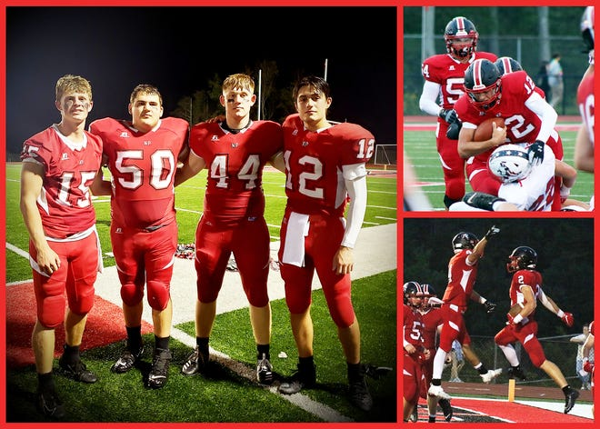 Picks of the Litter: Noah West, Zach Hoover, Ty LaFave, and Will Soma combined for five interceptions to help lead North Pocono to a 37-0 opening night victory against visiting Pittston Area.