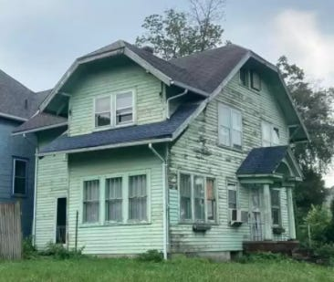 The exterior of the home at 427 N. Ninth St. in Keokuk is shown. After getting no offers for or interest in the property, real estate agent Laura Bailey came up with a new listing description that has drawn interest and laughs from many.