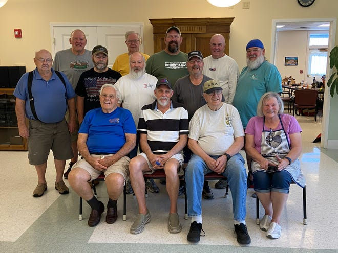 Front row, from left: Edsel Johnson, Kevin Applegate, Pete LeClair and Norman Jean Quinn; second row, from left: Tom Siat, Rick Boyer, Scott Arsenault and Paul LeBlanc; third row, from left: Gerald Kottman, Paul Crowley, Joe Mahan, Bill Manser and Gary Filiault.