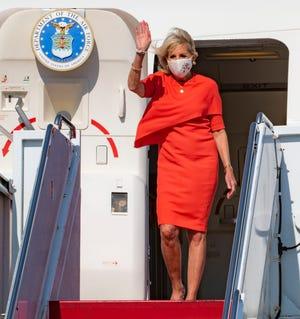 First Lady Jill Biden arrives at Yokota Air Base, Japan, July 22, 2021.
