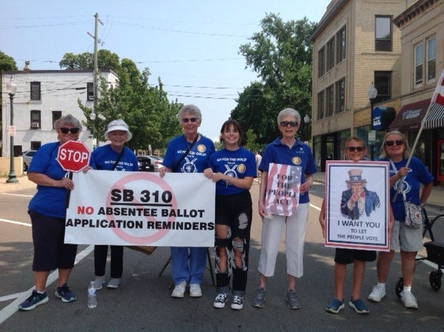 """A """"For the People"""" rally was held in downtown Monroe last month."""