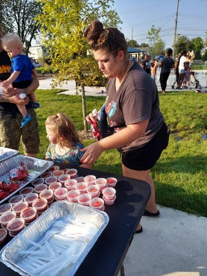Food was served at the End of Summer Bash that occurred recently at Labor Park in the City of Monroe.