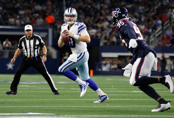 Cooper Rush, shown here against the Houston Texans on Aug. 21, will likely remain as the Dallas Cowboys' backup quarterback to Dak Prescott.