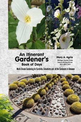 """The cover of Mary Agria's book """"An Itinerant Gardener's Book of Days."""""""