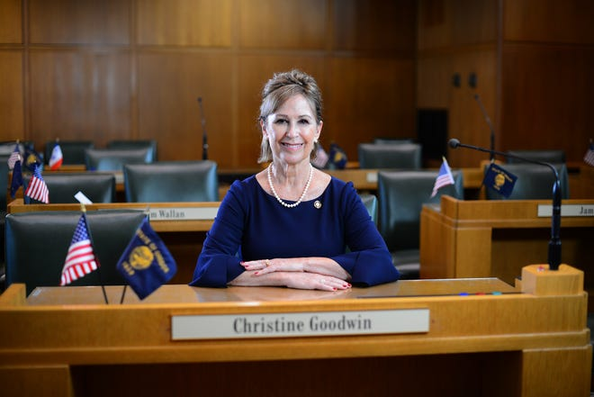 Oregon Rep. Christine Goodwin, R-Roseburg, was sworn into office Aug. 25 to finish the remainder of the term of former Rep. Gary Leif, who died in July after reportedly battling cancer.