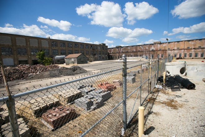 An unused building, seen here on Wednesday, Sept. 1, 2021, at Rockford City Yards, 500 S. Independence Ave., in Rockford, could be demolished using federal funds.