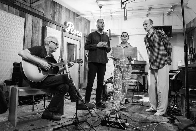 Jazz guitarist Bill Frisell, left, and HARMONY (baritone guitarist Luke Bergman, singer-violinist Petra Haden and cellist Hank Roberts) perform two shows Aug. 12 at Ignition Music Garage in Goshen.