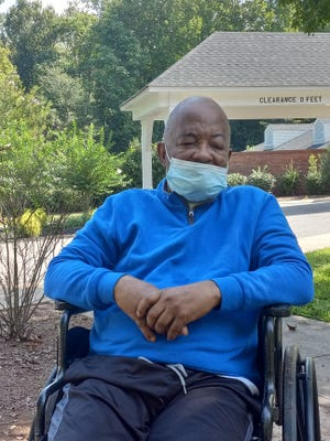 Darlene Rhodes captured a photo of her brother last month and is still hopeful he will be able to walk under his own power again.