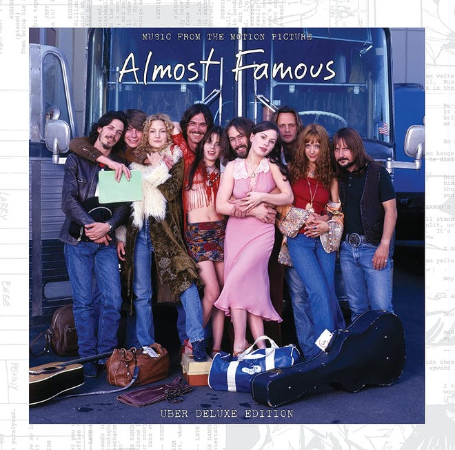 """The newly released """"Almost Famous"""" expanded soundtrack includes songs from Allman Brothers Band, Lynyrd Skynyrd, The Beach Boys, Joni Mitchell, Led Zeppelin, Neil Young & Crazy Horse, The Who and Yes, plus all the songs created for the film's fictional aspiring rock group Stillwater, most written for the movie by Cameron Crowe, Heart's Nancy Wilson and Grammy Award-winning guitarist Peter Frampton."""