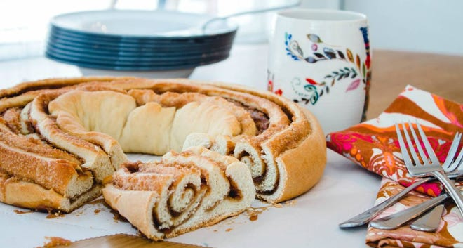 Cinnamon Swirl King Cake
