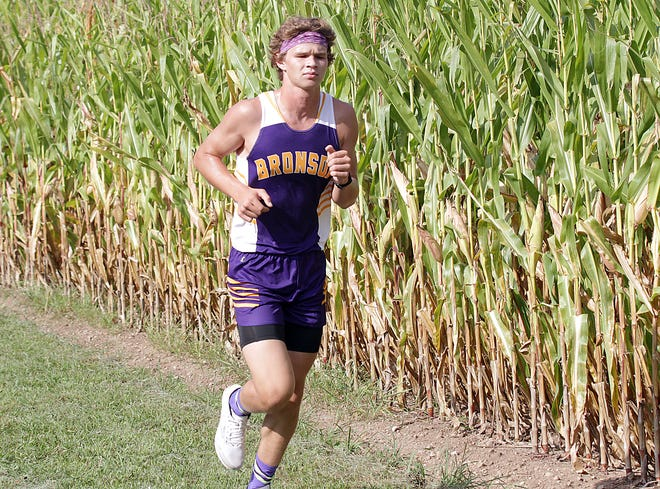 Reagan Mayer finished fourth overall for Bronson in a dual cross country match on Tuesday.