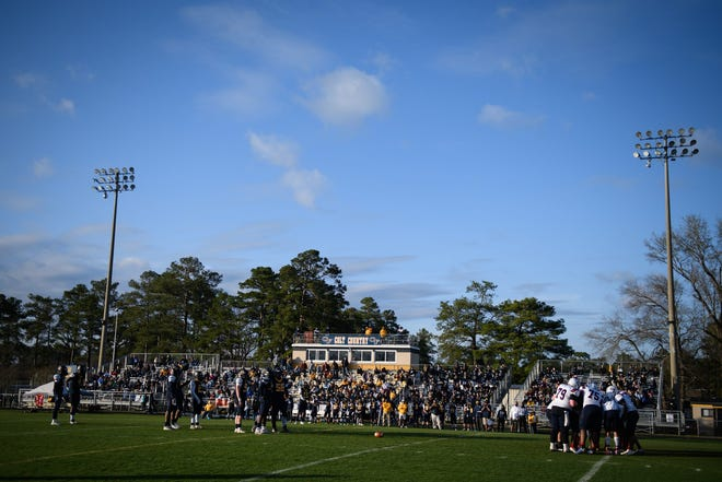 Terry Sanford plays at Cape Fear on Friday, March 19, 2021. This season's game, originally scheduled for Friday, Sept. 3, 2021, is on hold due to COVID-19 protocols.