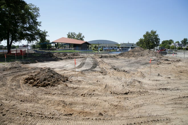Earth is cleared in Columbian Park for the construction of restrooms, Wednesday, Sept. 1, 2021 in Lafayette.