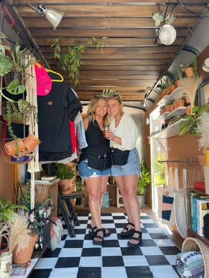 Mother and daughter Tami and Hannah Kopplin own Plants on the Street, a mobile plant shop, together.
