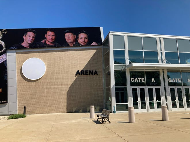 The former Menominee Nation Arena announced Tuesday a name change to Oshkosh Arena as it continues its search for a permanent naming rights partner. The former name has been removed from the building, shown here on Wednesday at 1212 S. Main St. in Oshkosh.