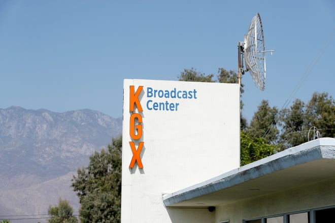 The KGX Broadcast Center in Cathedral City, Calif., pictured here on Sep.1, 2021, has recently been sold. The new owner has plans to turn the radio station building into a studio where they will film the broadcasts for their video streaming platform.