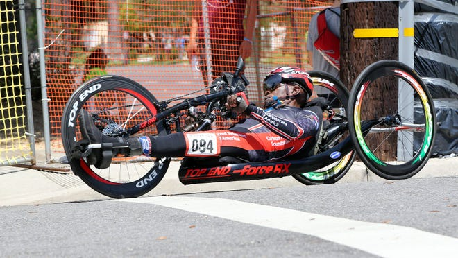 Paul Brown competes in the Redland Bicycle Classic.